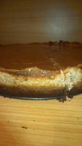 Sneaky taste, butterscotch pecan cheesecake
